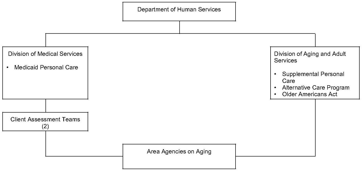 Organizational Chart: Arkansas Organization of Community Care Programs