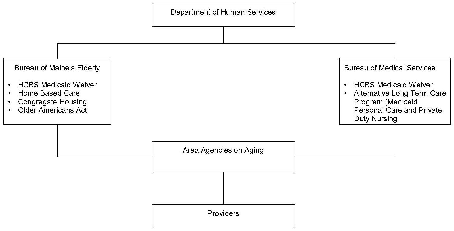 Organizational Chart: Maine Organization of Community Care Programs