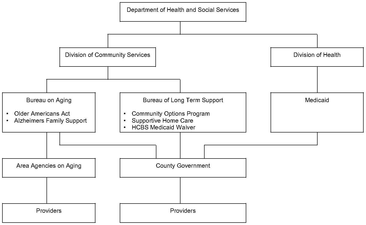 Organizational Chart: Wisconsin Organization of Community Care Services
