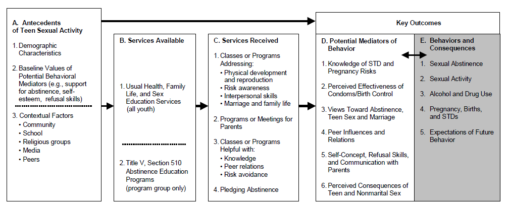 Figure I.1. Logic Model for Evaluating the Impact of Title V, Section 510 Programs