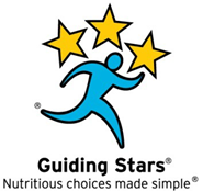 Guiding Stars front of package nutrition label