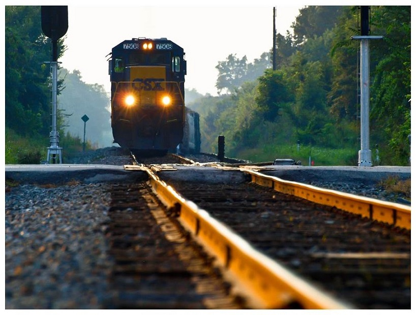 Photo of oncoming train.