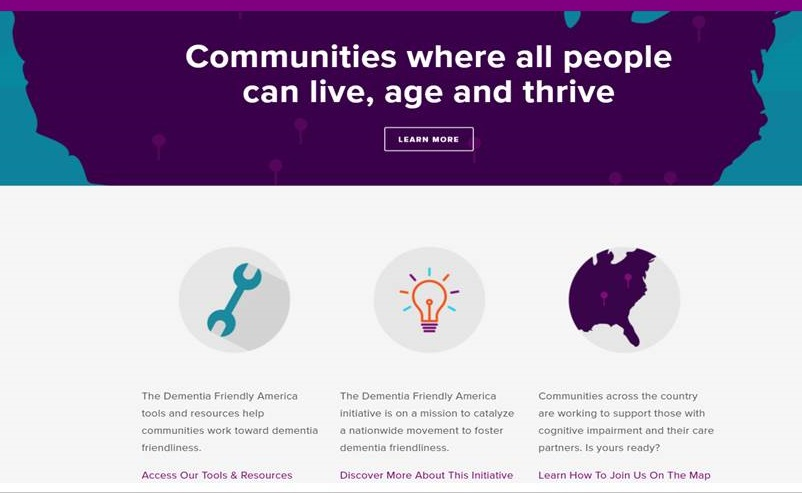 Screen shot of the dfamerica.org Home Page.