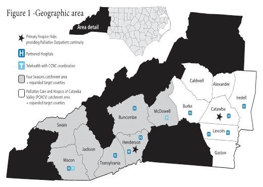 Shows what's available in counties of Western NC.