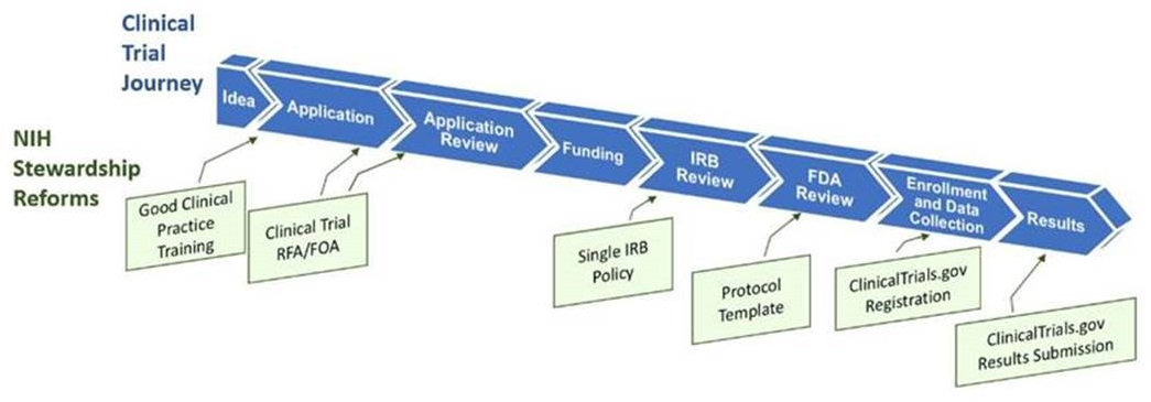 Clinical Trial Journey with NIH Stewardship Reforms.
