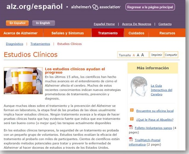 Spanish Language Promotion screen shot.