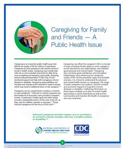 Caregiving for Family and Friends cover.