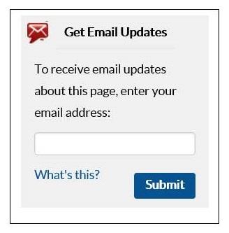 Newsletter Subscription screenshot.