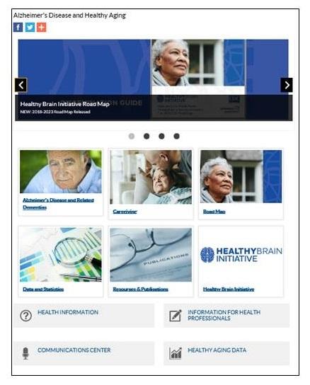 New Homepage screenshot.