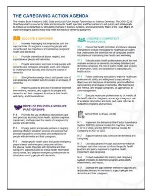 Caregiving Action Agenda cover.