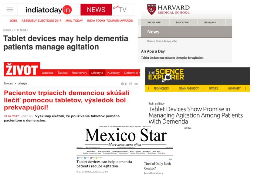 Selection of news headlines.