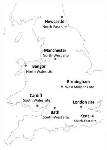 United Kingdom map.